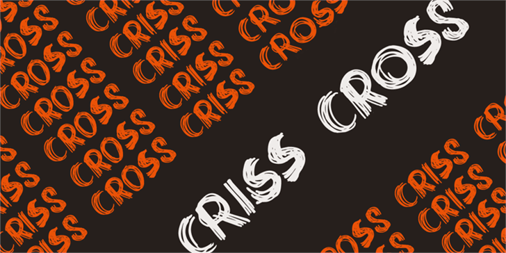 DK Criss Cross Font design cartoon