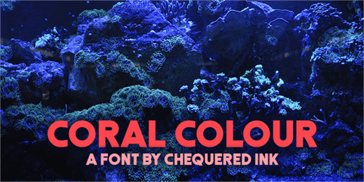 Coral Colour Font reef sign