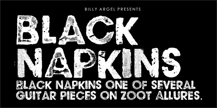 BLACK NAPKINS Personal Use Font poster text