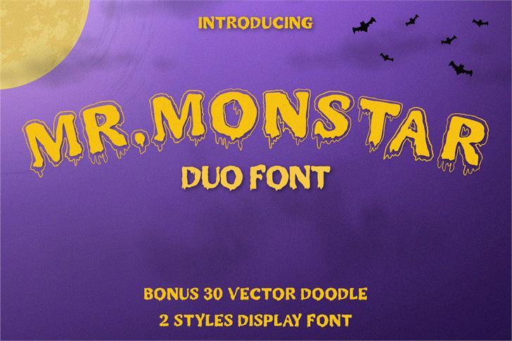 MR.MONSTAR Font poster