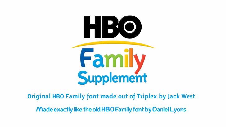 Familex Font design graphic