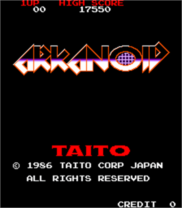 Arkanoid font by Freaky Fonts