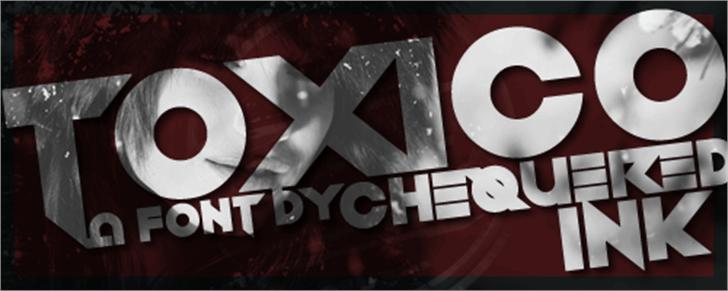 Toxico Font screenshot poster