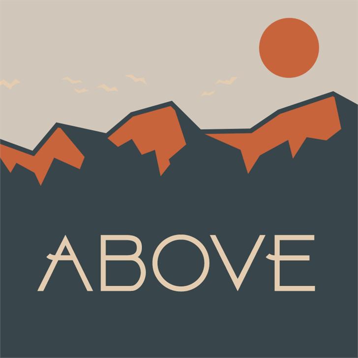 Above DEMO Font cartoon design