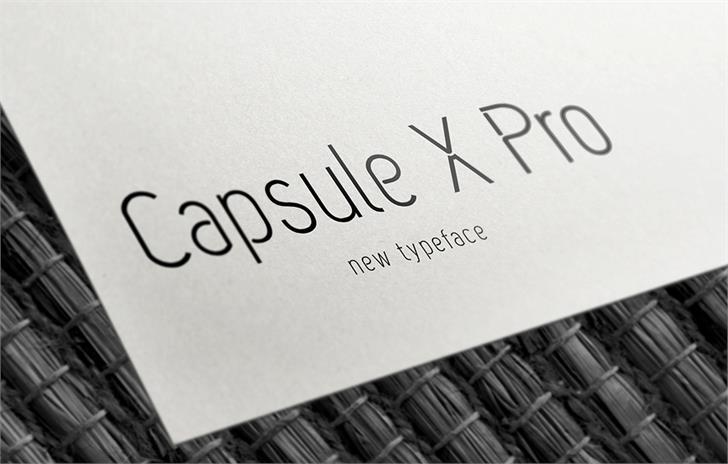 Capsule X Pro Medium Font design book