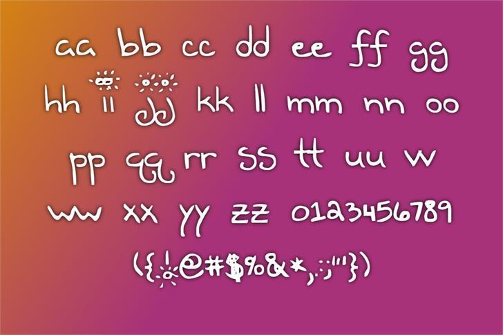 Teen Dreem Magazeen Font poster