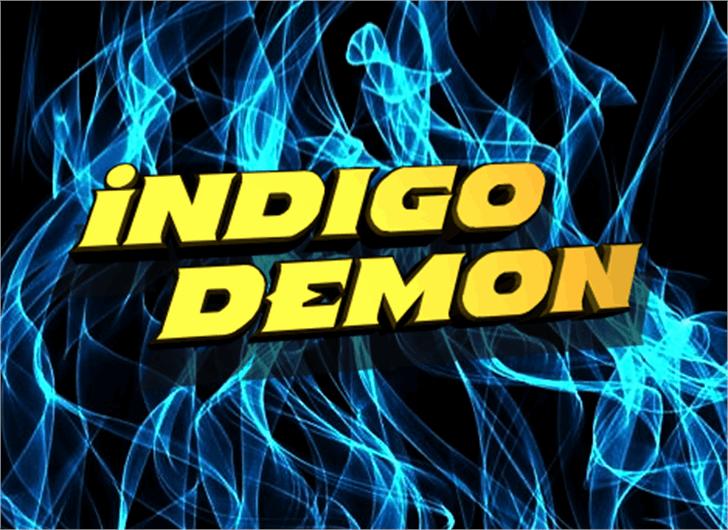 Indigo Demon Font screenshot poster