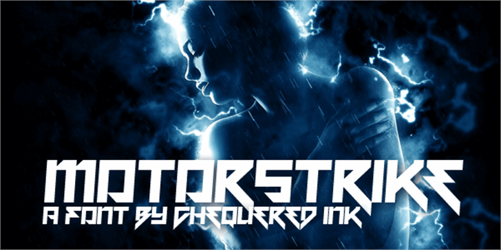 Motorstrike Font lightning screenshot
