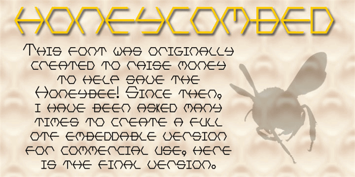 HONEYCOMBED Font text typography