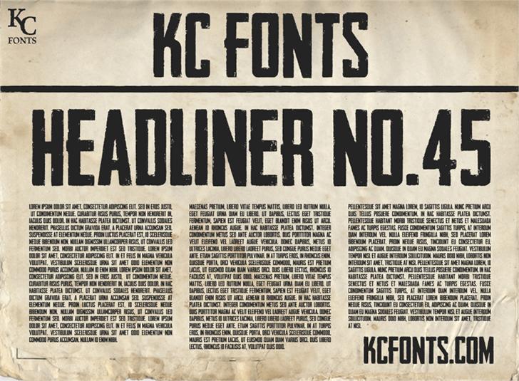 Headliner No. 45 Font text newspaper