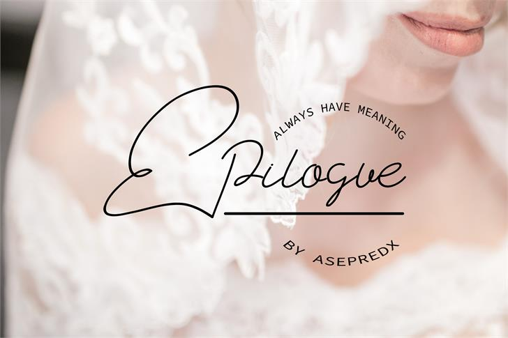 Epilogue Font handwriting design
