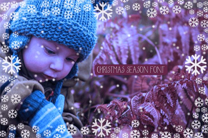 Christmas Season Font person little