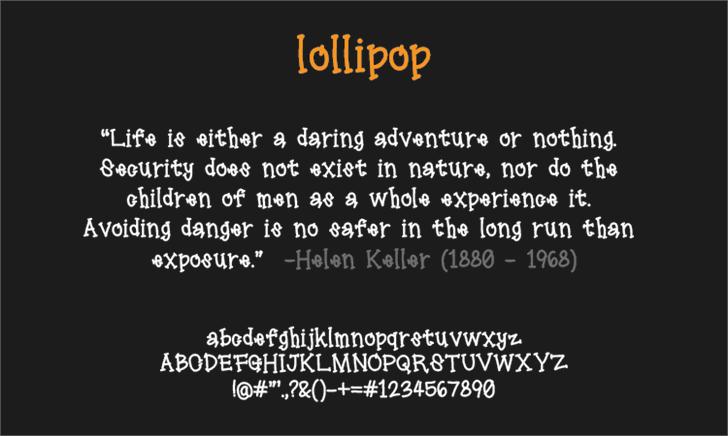 lollipop font by LALATO FONTS