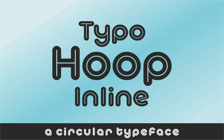 Typo Hoop Inline Demo font by studiotypo