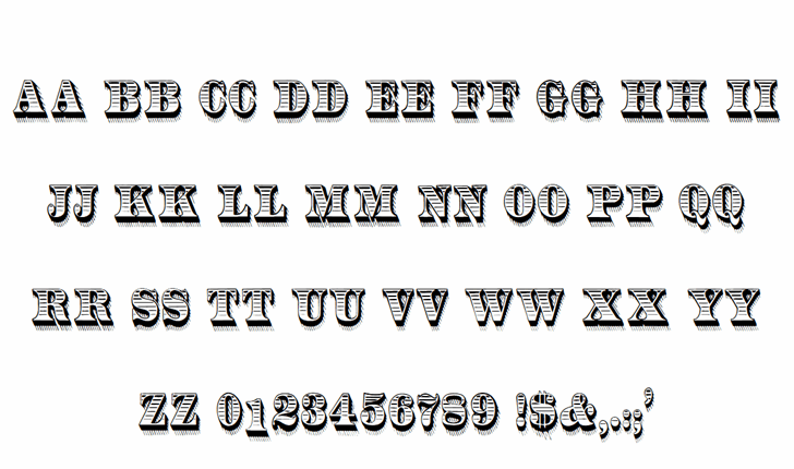 RadiantAntique font by Douglas Day