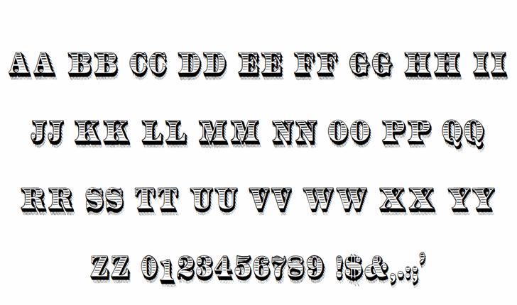 RadiantAntique Font Letters Charmap