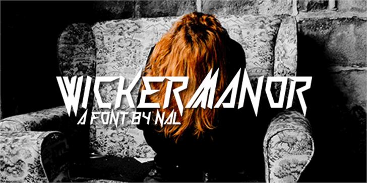 Wickermanor Font poster cartoon