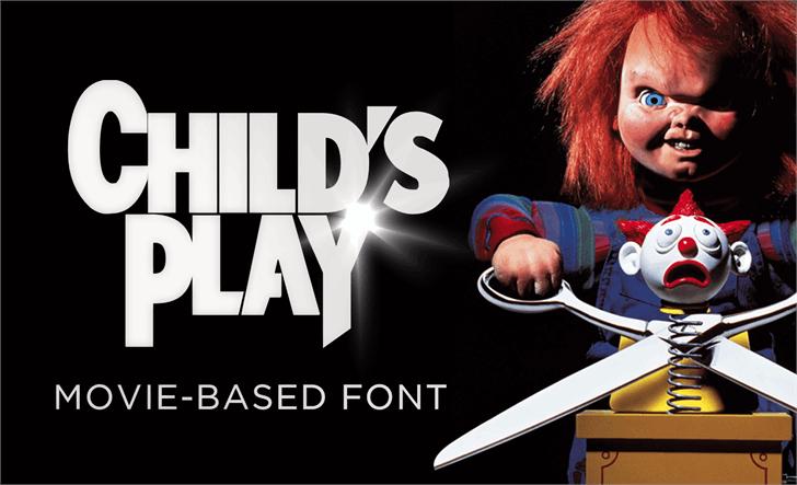 Child's Play Font design graphic
