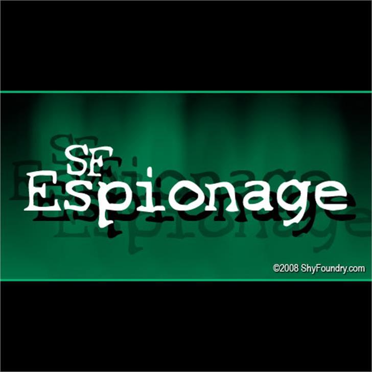 SF Espionage font by ShyFoundry