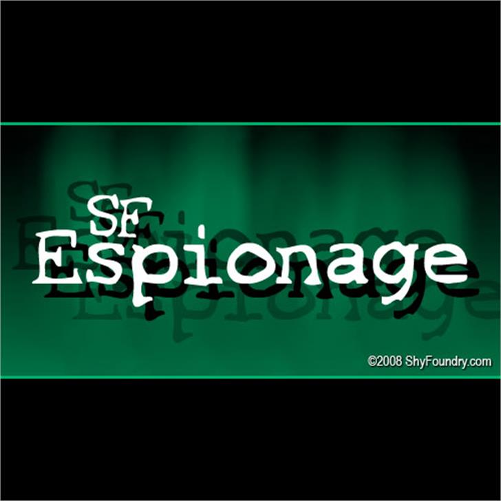 SF Espionage Font screenshot font