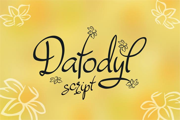 Dafodyl Font handwriting text
