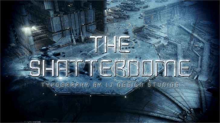 Shatterdome Personal Use Font poster screenshot