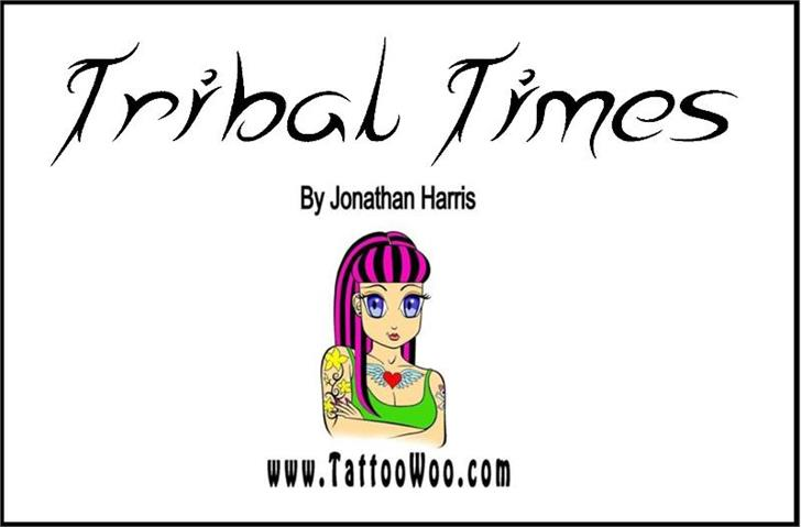 Tribal Times Font human face text