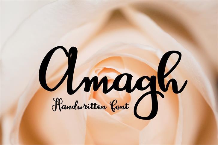 Amagh Font design