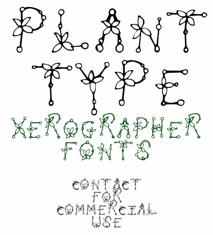 PlantType Font