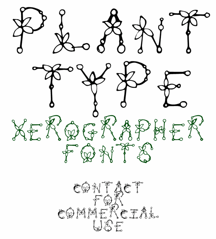 PlantType Font text drawing