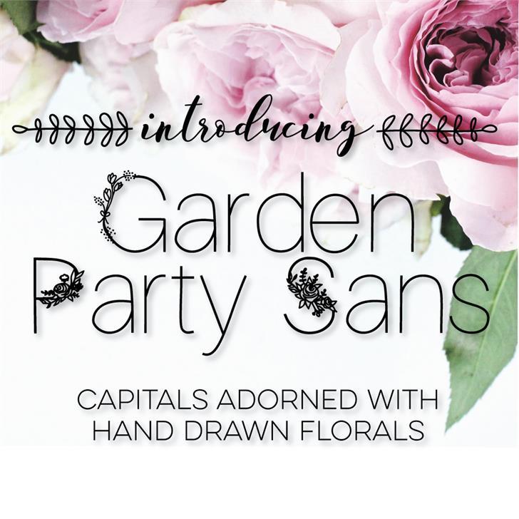 GardenPartySans Font flower plant
