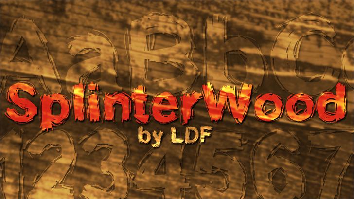 SplinterWood Font art handwriting