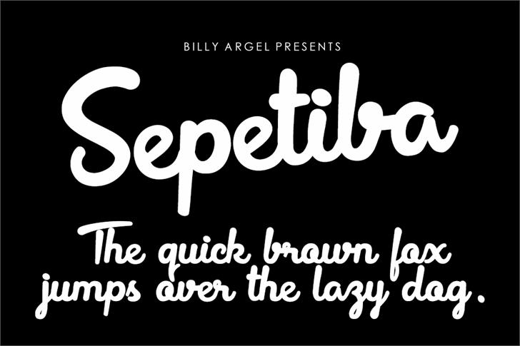 Sepetiba Personal Use Font text design