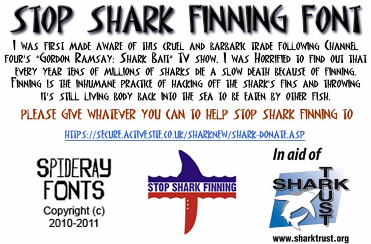 STOP SHARK FINNING Font text newspaper