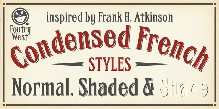 FHA Condensed French  font by the Fontry