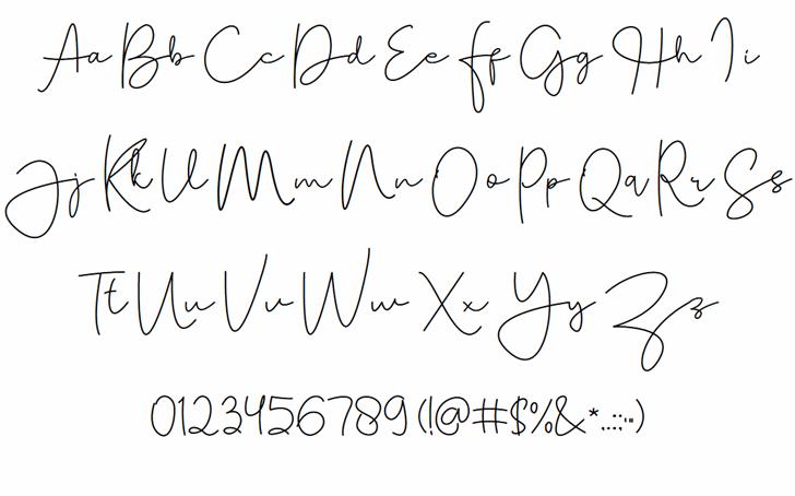 Tallitha Free Font Letters Charmap