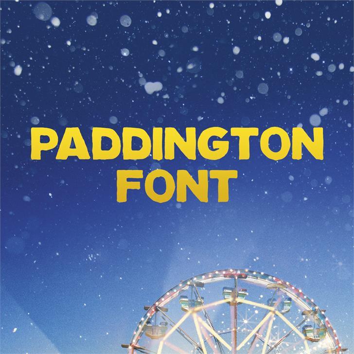 Paddington Font screenshot sky