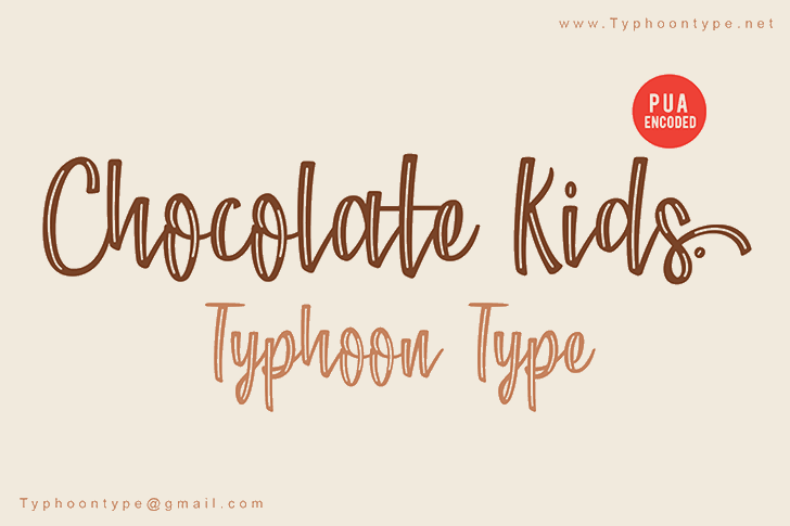 Chocolate Kids - Personal Use Font poster