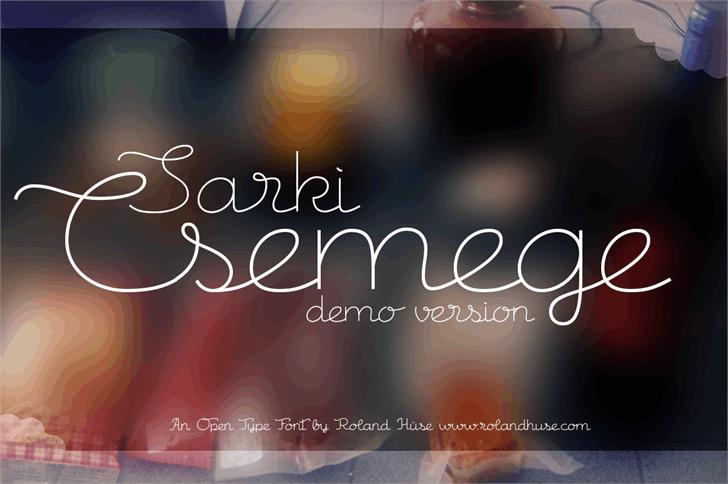 Csemege Demo Font screenshot design