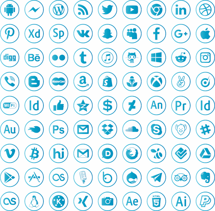 social media Font pattern design