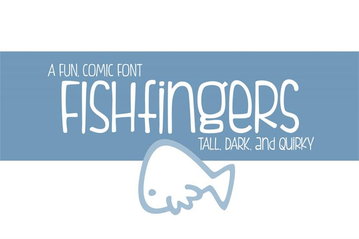 FISHfingers Font design typography