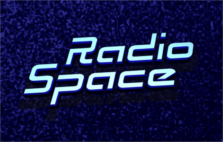 Radio Space Font electric blue screenshot