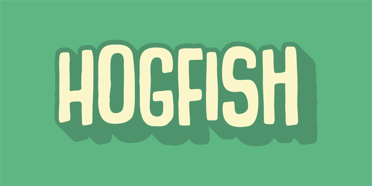 Hogfish DEMO Font typography design