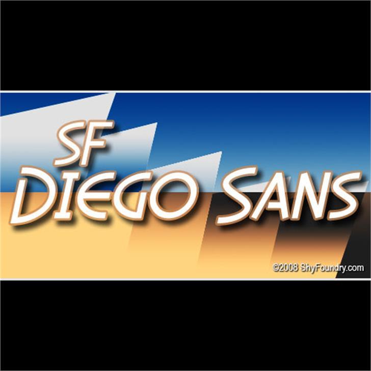 SF Diego Sans Font screenshot text