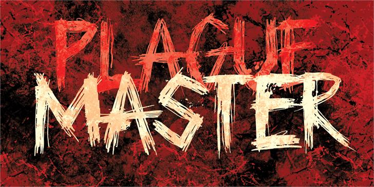 DK Plague Master font by David Kerkhoff