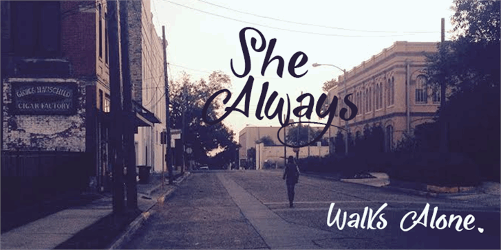 She Always Walk Alone Demo font by Roland Huse Design