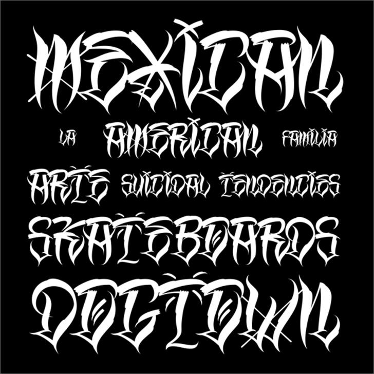 Los Angeles Homies Font text handwriting