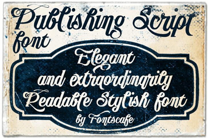 Publishing Script DEMO version font by FontsCafe