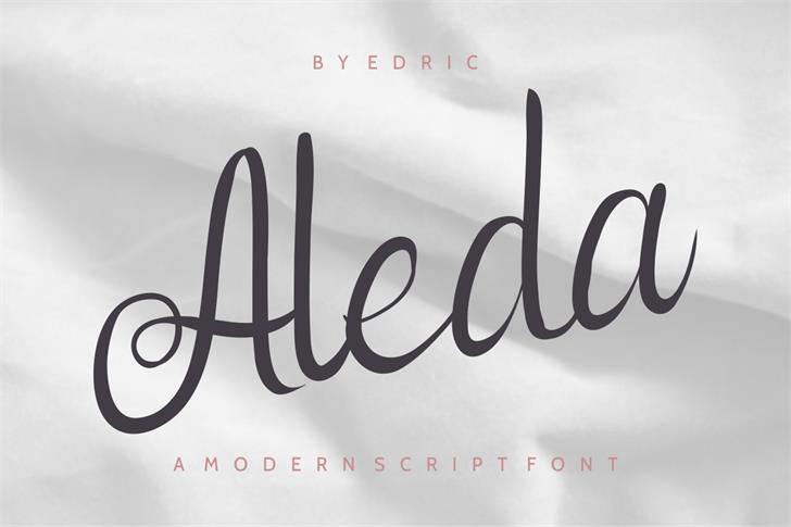 Aleda Font handwriting