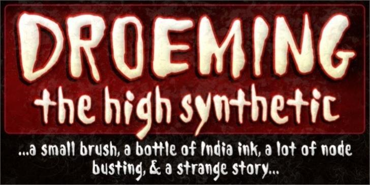 Droeming Font text poster